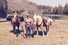 Hiking and camping with horses